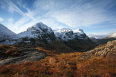 Snow capped mountains in the Highlands of Scotland. — Stock Photo