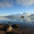 Stock Photo: Ben Nevis and Loch Linnhe.