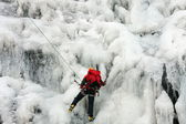 Ice climbing in the Scottish Highlands. — Foto de Stock