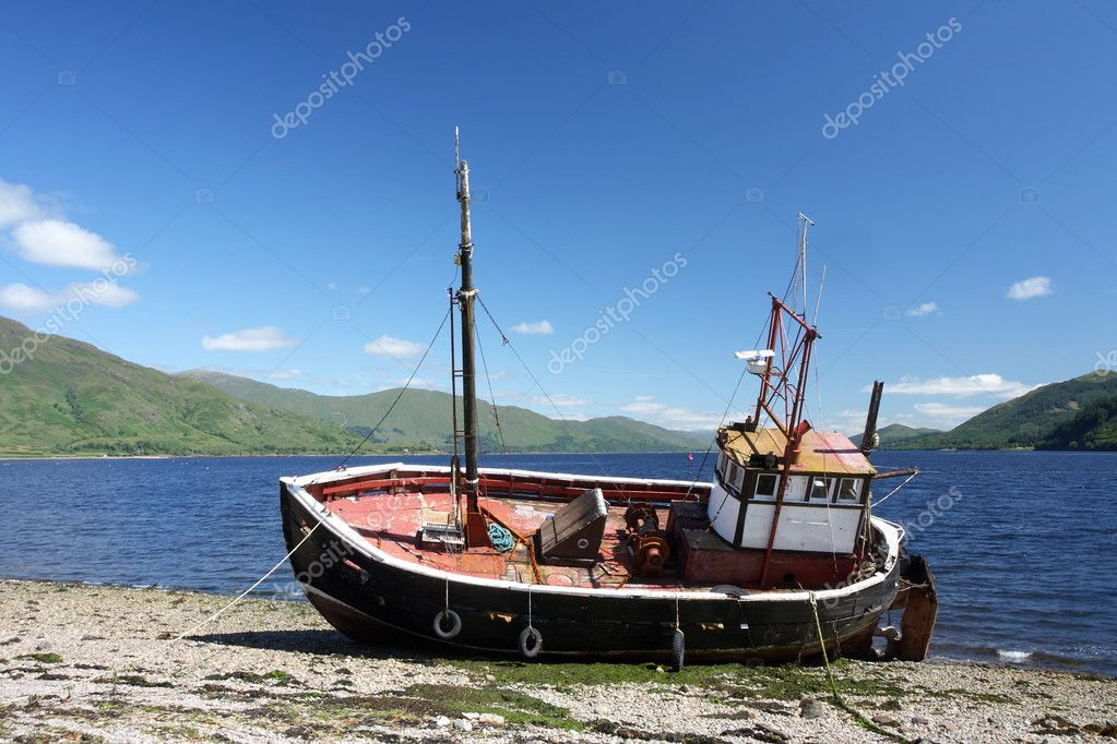 Old scottish fishing boat stock photo jacameron 3642862 for What to do with an old boat