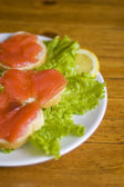 Sandwich with fish — Stock Photo
