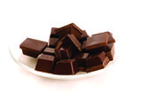 Plate of chocolate — Stock Photo