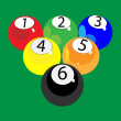 Stock Vector: Billiard balls