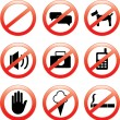 Restrictive signs - Stock Vector