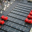 Detail of sound mixer — Foto Stock
