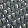 Detail of sound mixer — Stock Photo