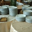 Stack of white plates — Stock Photo #3654562