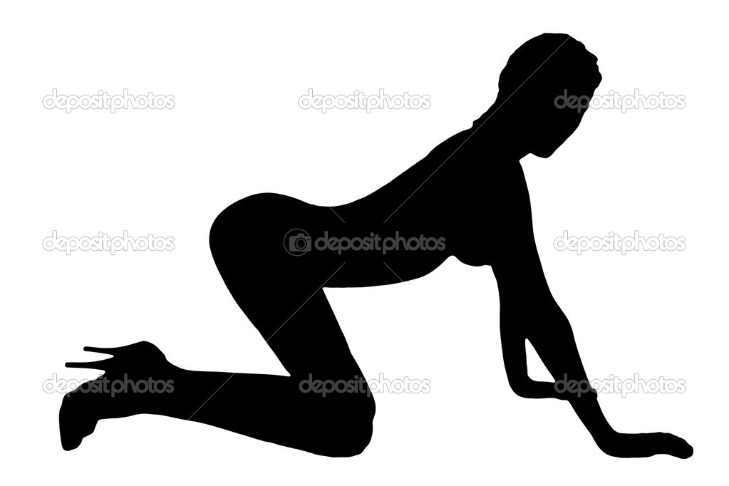 Sexy silhouette of young girl — Stock Photo #3565663