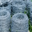 Stock Photo: Coils of barbed wire