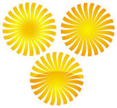 Orange sun illustration — Stock Vector