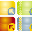 Set of colored cards — Stock Vector