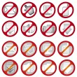 No signs — Stock Vector