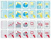 Document icons — Stock Vector