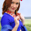 Stock Photo: Gipsy girl in blue
