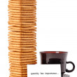 Stock Photo: Quantity has importance vertical