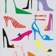 Woman's shoe on high heel - Stock Vector