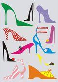 Woman's shoe on high heel — Stock Vector