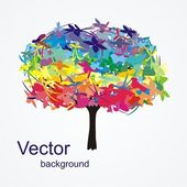 Abstract colorful tree — Stock Vector