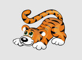 Funny tiger — Stock Vector