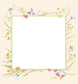 Frame for photo with flowers — Stock Vector