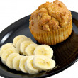 Stock Photo: Banan& Muffin