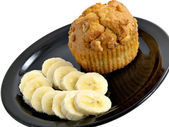 Banana & Muffin — Stock Photo