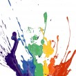Rainbow paint - Stock Photo