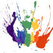Stock Photo: Rainbow paint