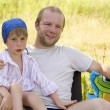 Happy father with little son — Stock Photo #3666134
