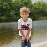 küçük çocuk açık — Stok fotoğraf
