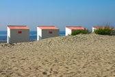 Close Up Beach Cabins — Stock Photo