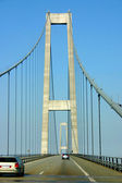 Grande belt ponte pilão dinamarca — Foto Stock