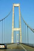 Wielki bełt most dania pylonu — Zdjęcie stockowe