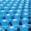 Blue Tribune Seats in stadium - side view — Stock Photo #3820535