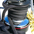 Winch with black rope — Stock Photo