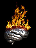 Brain Fire — Stock Photo