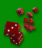 Scattered Dice — Stock Photo