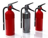 Three Extinguisher — Stock Photo