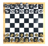 Chess Top View — Stock Photo