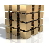 Golden Cube — Stock Photo