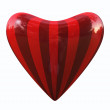 Stock Photo: Striped heart