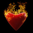 Heart on Fire — Stock Photo #3849112