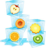 Fresh and cool ice cubes — Stock Vector