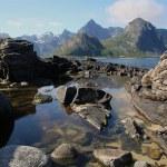 Lofoten coastal landscape — Stock Photo #3577555