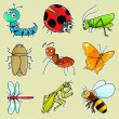 Insect icons — Stock Photo