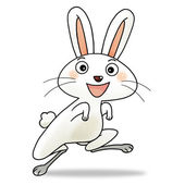 12 chinese new year icon 04 - rabbit — Stock Photo