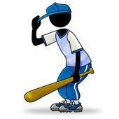 Joueur de baseball — Photo