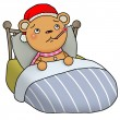 Foto Stock: Gingerbread bear - sick