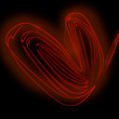 Heated twisted wire red heart — Stock Photo