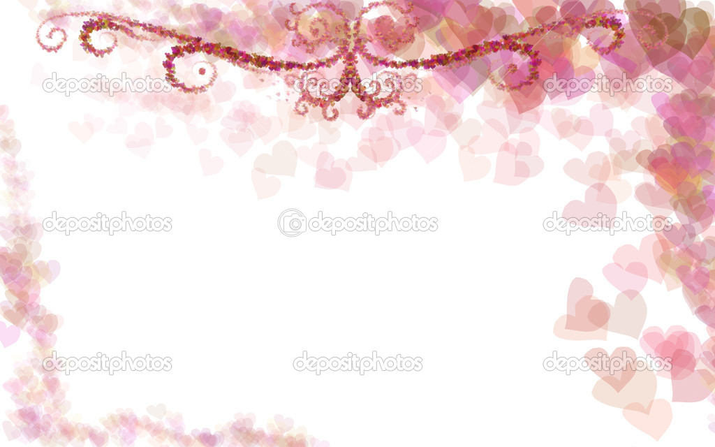 Nice Background With Pink Hearts